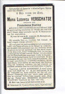 Dp 2719 - MARIA VERSCHATSE - MEULEBEKE 1848 + INGELMUNSTER  1932 - Images Religieuses