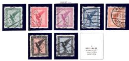 Deutsches Reich, 378-383, Flugpostmarken, Adler - Gebruikt