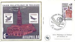 Superbe CNEP Souvenir 1erJour Aviaphil 84 3/3/1984 Toulouse ; N° 8 ; Valeur 35,00 Euros - 1980-1989