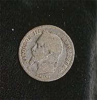 NAPOLEON  III   50 CENT  Argent 1867  Tête Laurée - Francia