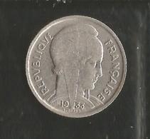 5 FRANCS  BAZOR   1933 En Nickel Tranche Striée - France