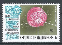 Maldive Islands1974. Scott #464 (MNH) Tiros Satellite - Maldives (1965-...)