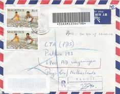 Mauritius 2002 Reduit Copra Coconut Barcoded Registered Cover - Mauritius (1968-...)