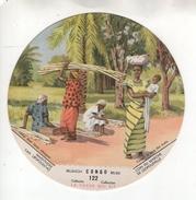 """Chromo N°122 """"La Vache Qui Rit"""". Série Congo Belge. Coin Du Marché De Léopoldville. Vertaling Zie Chromo - Chromos"""