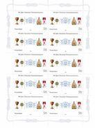 95 - FRANC-MACONNERIE (MASONIC) : Feuillet Allemand Maçonnique (10 Timbres **) - Freemasonry