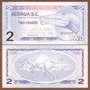 BERINGIA 2 Dinars 2012 Polymer UNC - Billets