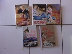 Lot Virginia C Andrews Série Complète LA FAMILLE LOGAN  Tomes 1 2 3 4 5 Tbe - Other Collections