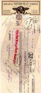 ITALIE- TORINO-TURIN- MANDAT SOCIETA NEBIOLO- CARACTERES IMPRIMERIE FONDERIE DE FER- 1933- SAINT JEAN D' ANGELY-SAINTES - Italie