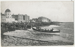 Worthing Lifeboat At Launch Lancement Du Canot De Sauvetage Edit B And R Ltd Liverpool - Worthing