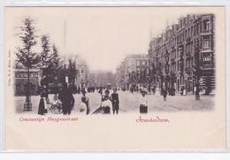 Amsterdam Constantijn Huygenstraat Animée Tram  ± 1902    1077 - Amsterdam