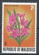 Maldive Islands 1973. Scott #456 (MNH) Nerium Oleander, Fleurs, Flowers - Maldives (1965-...)