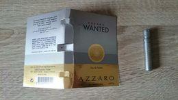 PUBLICITE / CARTE / ÉCHANTILLON TUBE SUR CARTE VAPORISATEUR DU PARFUM AZZARO WANTED - VIDE = UTILISÉ - Perfume Samples (testers)
