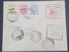IRAN - Enveloppe 1 Er Vol De Téhéran / Meched En 1929 , Affranchissement Plaisant - L 9876 - Iran