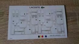 ECHANTILLON PARFUM CARTE PARFUMEE EAU DE LACOSTE L.12.12. COLLECTION BLANC - NEUF - Perfume Cards