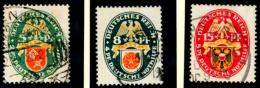 Deutsches Reich,  Deutsche Nothilfe 430-432 - Gebruikt