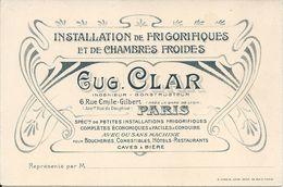 EUGENE CLAR. INSTALLATION DE FRIGORIFIQUES ET DE CHAMBRES FROIDES - Visitenkarten