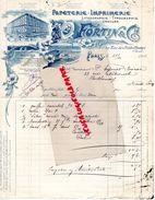 75- PARIS-FACTURE PAPETERIE IMPRIMERIE-LITHOGRAPHIE-GRAVURE- FORTIN & CIE-59 RUE PETITS CHAMPS-1911 - Imprimerie & Papeterie