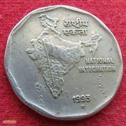 India 2 Rupees 1993 H KM# 121.3  Inde Indie - Inde