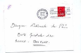 Lettre Flamme Rosny Anniversaire Liberation - Mechanical Postmarks (Advertisement)