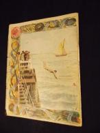 Protege Cahier Couvre Cahier Circa 1910 Illustration Delton La Natation Librairie E Brosset Moulins - Sport