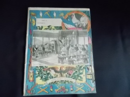 Protege Cahier Couvre Cahier Circa 1910 Illustration JH Beuzon Charlemagne Visite L Ecoles  Librairie E Brosset Moulins - Kids