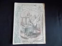 Protege Cahier Couvre Cahier Circa 1910 Ill. Ch Clerice Sophie Germain   Lib. E Brosset Moulins - Buvards, Protège-cahiers Illustrés