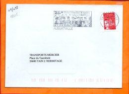 SAVOIE, Albertville, Flamme SCOTEM N° 18225, 26e Festival De Musiques Militaires - Marcophilie (Lettres)