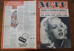 ACTU N° 79 DE 1943 /CANAL DU MIDI / CAMARGUE  / PRISONNIERS MARSEILLE - Informations Générales