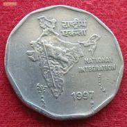 India 2 Rupees 1997 T KM# 121.5 Inde Indie - Inde