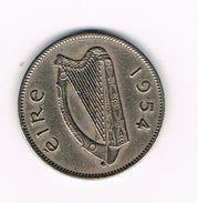 )   IERLAND  1 SHILLING  1954 - Irlande