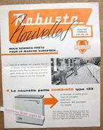 "Brochure ""Lessiveuse, Essoreuse ""Robusta"" Usines à Machelen 1960 - Collections"