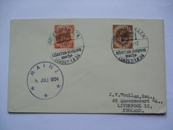 Germany - 1954 Cover Mainz To Liverpool - Anderach - Albertus Magnus Sonderstempels - Lettres & Documents