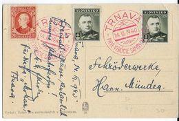 SLOVAQUIE - 1940 - CP De TRNAVA Avec OBLITERATION SPECIALE  => HANN.MÜNDEN (ALLEMAGNE) - Slovaquie