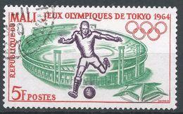 Mali 1964. Scott #61 (U) Soccer Player, Tokyo Stadium, Stade De Tokyo - Mali (1959-...)
