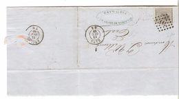 TP 17 S/LAC C.Van Acker-De Coster & Cie Fabts Gent POS 141 C.Gand 13/10/1868 V.Eecloo C.d'arrivée PR4781 - Postmarks - Points
