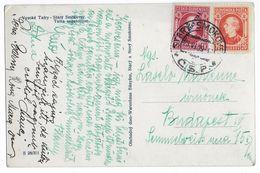 SLOVAQUIE - 1939 - CP De STARY SMOKOVEC Avec TIMBRE SURCHARGE  => BUDAPEST (HONGRIE) - Slovaquie