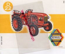 BUVARD TRACTEUR RENAULT - MOTOCULTURE AGRICULTURE - Farm