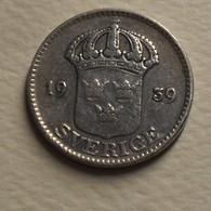 1939 - Suède - Sweden - 25 ORE, Gustaf V, Argent, Silver, KM 785 - Schweden