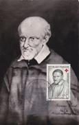 Carte-Maximum FRANCE N° Yvert 1187 (SAINT VINCENT DE PAUL) Obl Sp 1er Jour (Ed Artistes Paysagistes) - 1950-59