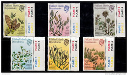 A0477 FALKLAND DEPENDENCIES 1981, SG 89-94 Plants, Mnh - Falkland Islands