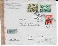 SLOVAQUIE - 1942 - ENVELOPPE Par AVION Avec CENSURE De LIPTOVSKYSVATY MIKULAS => UPICE - Slovaquie