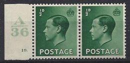 GB 1936 KE VIII (*) MH SG.457. Mi.193x (A/36 10.) - 1902-1951 (Kings)
