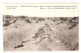 Nieuwpoort / Nieuport - Effet D'un 75 Sur Une Route Cimentée Près Des Lignes Ennemies - War / Guerre / Oorlog 1914-18 WW - Nieuwpoort