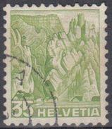 SUIZA 1936 Nº 296a PAPEL GOFRE USADO - Suiza