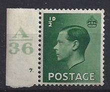 GB 1936 KE VIII (**) MNH SG.457. Mi.193x (A/36 7.) - 1902-1951 (Kings)