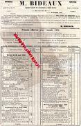 85- LUCON- RARE CATALOGUE IMPRIMEUR LIBRAIRE DE LA GENDARMERIE-M. BIDEAUX-IMPRIMERIE-PAPETERIE-1904- - Imprimerie & Papeterie