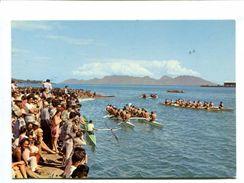 Cp - TAHITI - Fêtes Traditionnelles Du 14 Juillet - Courses De Pirogues à La Pagaie - Polynésie Française