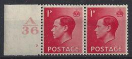 GB 1936 KE VIII (*) MH SG.458. Mi.194x (A/36 2) - 1902-1951 (Kings)