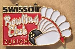 SWISSAIR BOWLING CLUB - ZURICH - SCHWEIZ - SUISSE - AVION - COMPAGNIE AERIENNE - SWISS - QUILLES - BOULE  -        (18) - Bowling