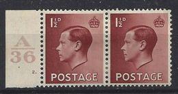 GB 1936 KE VIII (*) MH SG.459. Mi.195x (A/36 2.) - 1902-1951 (Kings)